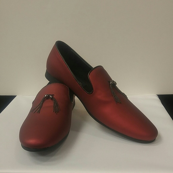 Mens9 Red Loafer With Chain9d   Poshmark
